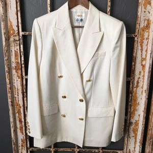 Talbots 100% Wool Double Breasted Jacket Size 8
